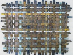 Dimensions: 36x48 inches. Mixed metal weave.